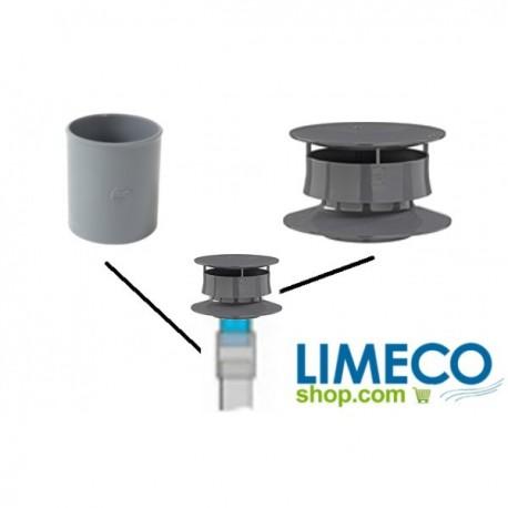Kit de montage pour vent avec extracteur statique - Extracteur statique fosse septique ...
